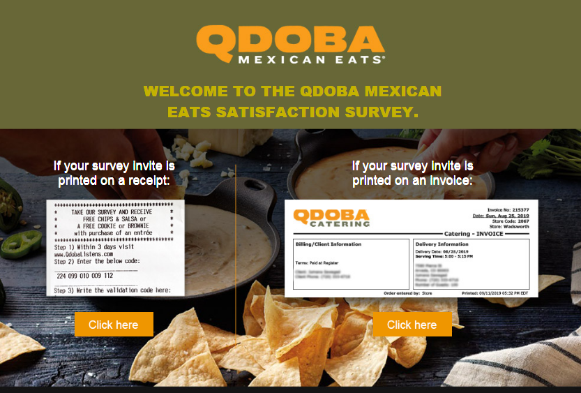 Qdoba Mexican Grill Customer Experience Survey 2020