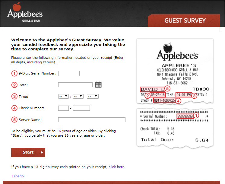 applebees.com/survey