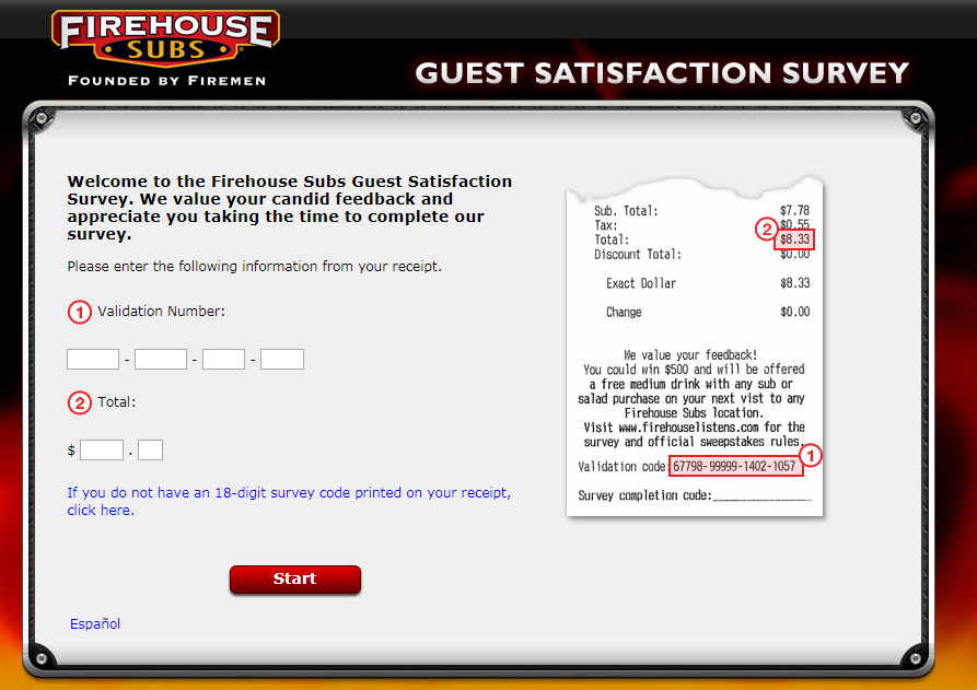Firehouse Subs Customer Experience Survey