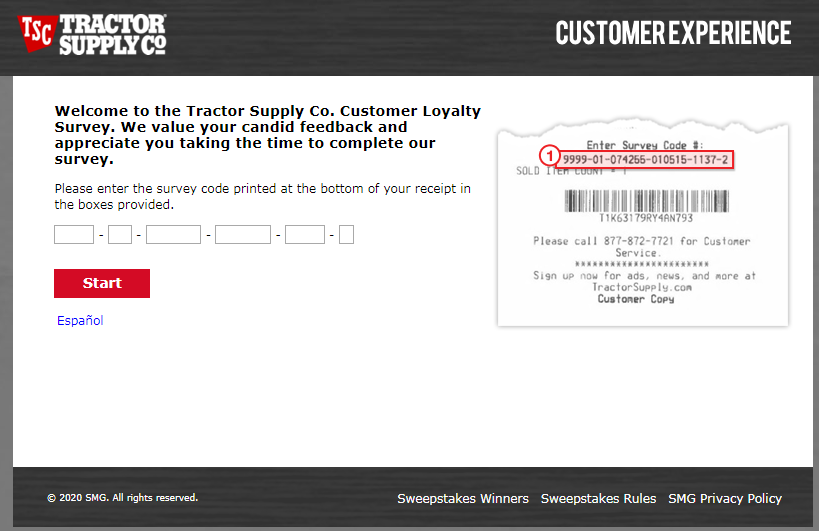 Tractor Supply Consumer Feedback Survey 2020