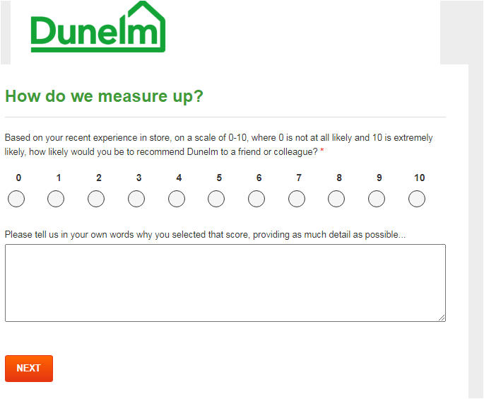 How To Take Dunelm Mill Survey