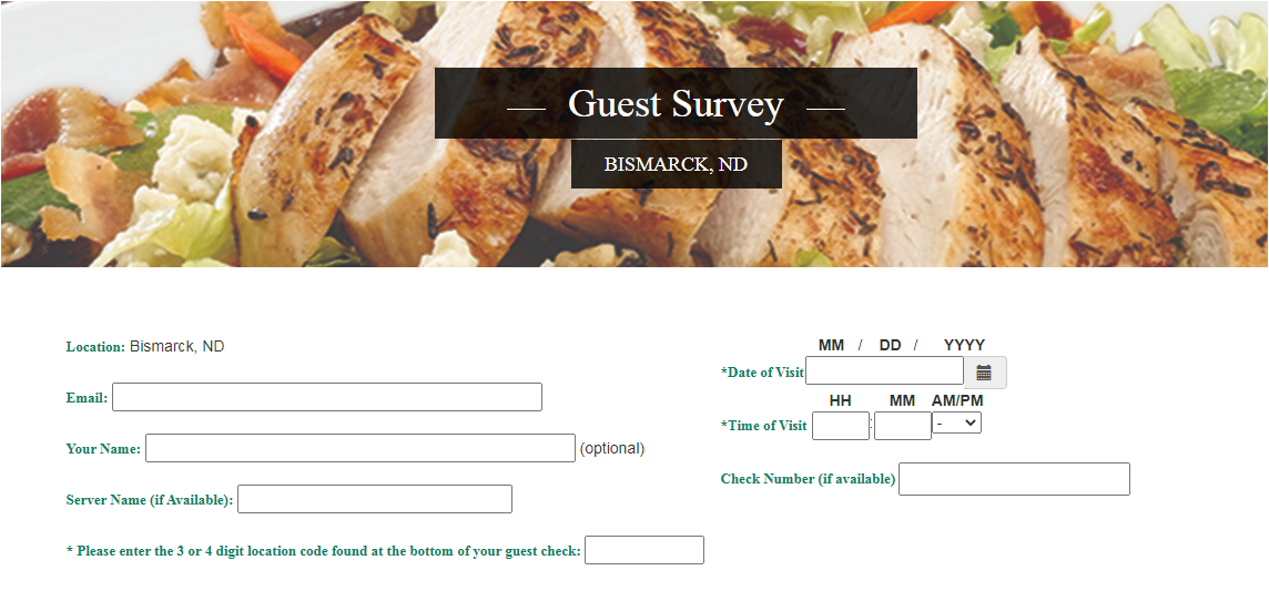 Ground Round Grill & Bar-Guest Experience Survey